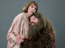 Madam Maxime ve Rubeus Hagrid Harry Potter