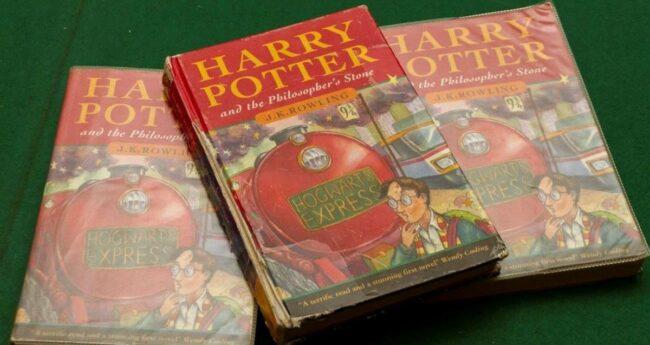 harry potter ve felsefe taşı kitap çöp