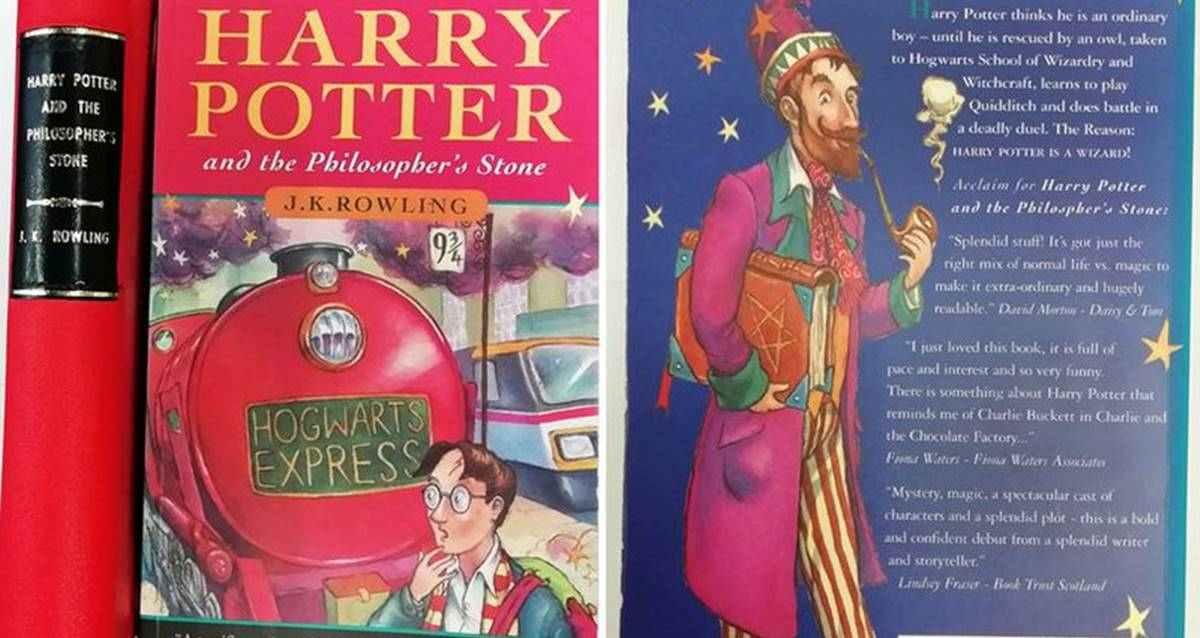 İmzalı Harry Potter ve Felsefe Taşı Kitabı